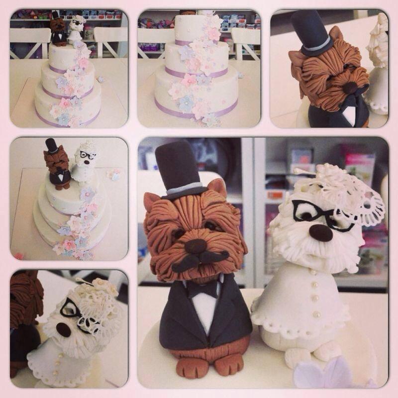 tartas fondant para bodas