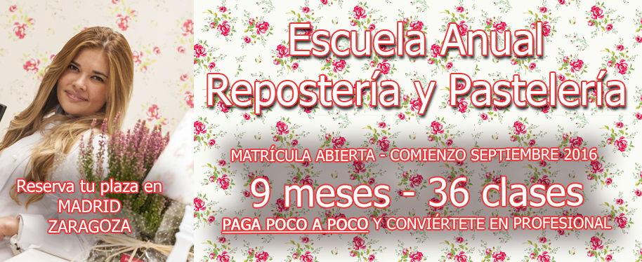 Escuela de repostería y pastelería en Madrid y Zaragoza