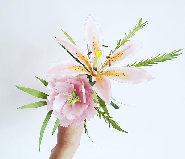 flores en pasta de azucar