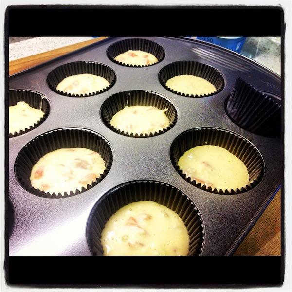 Para los próximos cursos cupcakes madrid esta es la mezcla preparada y puesta en las capsulas para hornear