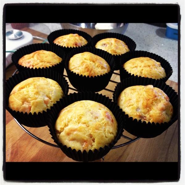 En el último cursos cupcakes madrid este fue el bizcocho recién horneado de cupcakes salmón