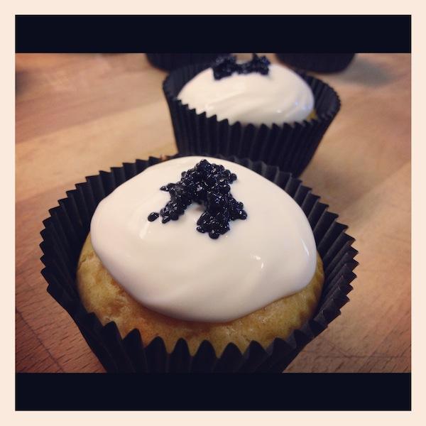 Presentación final de cupcakes salados en los cursos cupcakes madrid para septiembre