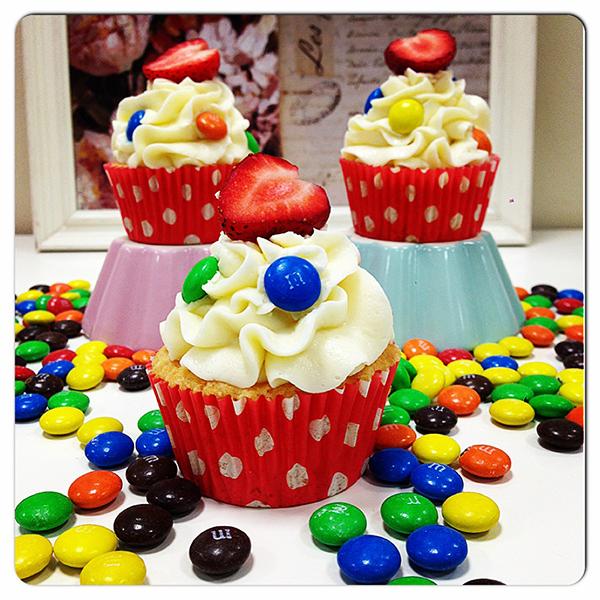 cupcakes M&M