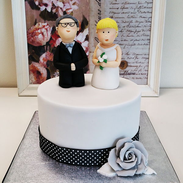 tartas de boda fondant