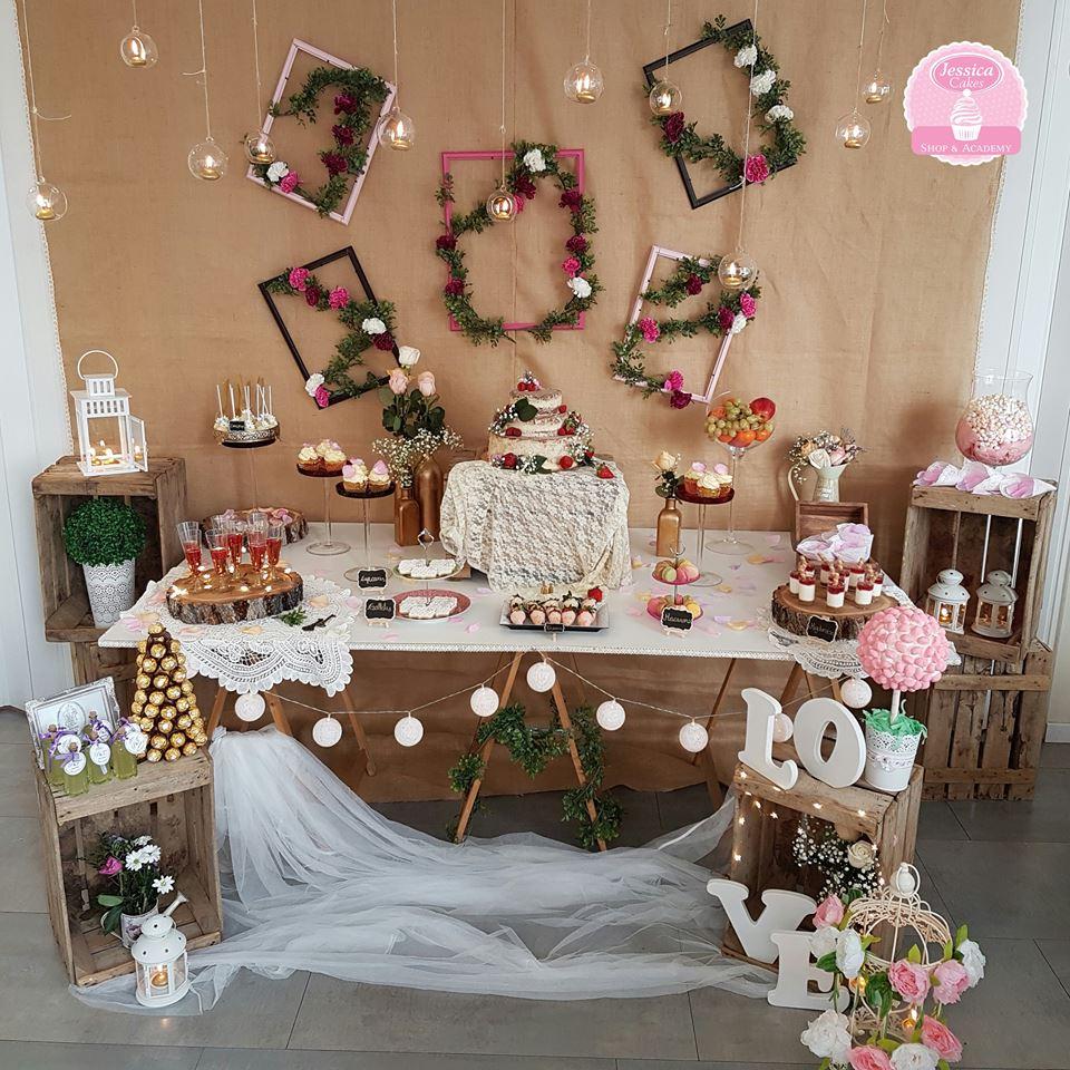 Mesas dulces para bodas de oro