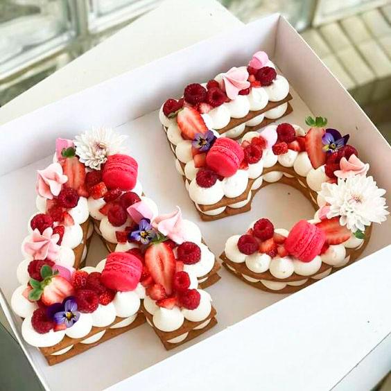 pasteles con numeros